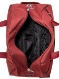 Бордовый чемодан Lbags. Вид 6 миниатюра.