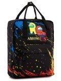 Чёрный рюкзак Angelo Bianco в категории Детское/Школьные рюкзаки/Школьные рюкзаки для подростков. Вид 2