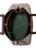 Бежевая сумка классическая David Jones. Вид 5 миниатюра.