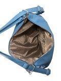 Голубая сумка мешок S.Lavia. Вид 6 миниатюра.