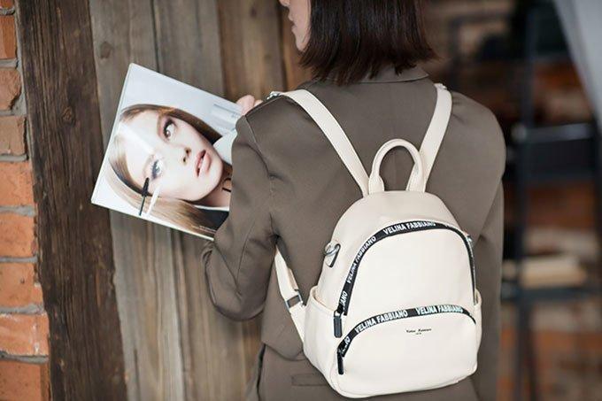 Белый рюкзак Fabbiano