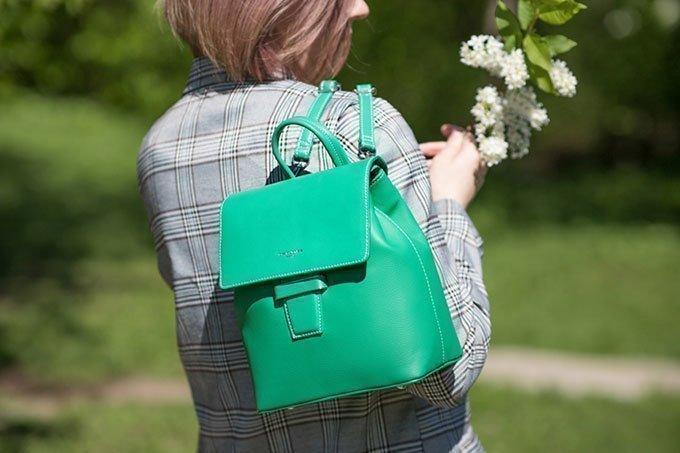 Зелёный рюкзак David Jones