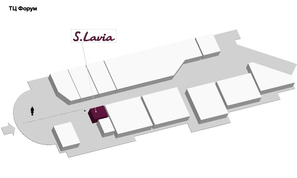 Расположение магазина «Slavia» ТЦ «Форум» - фотография