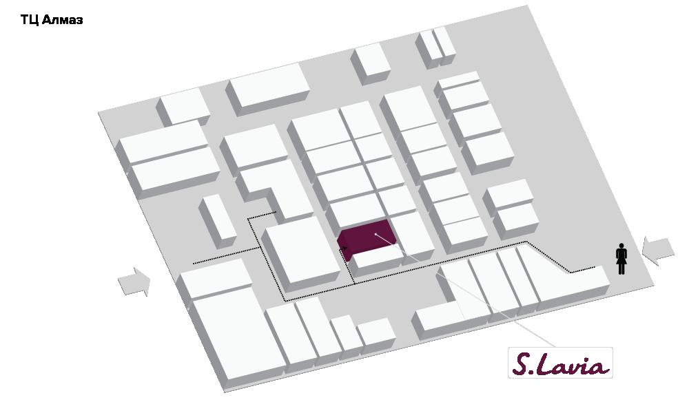 Расположение магазина «Slavia» ТЦ «Алмаз» - фотография