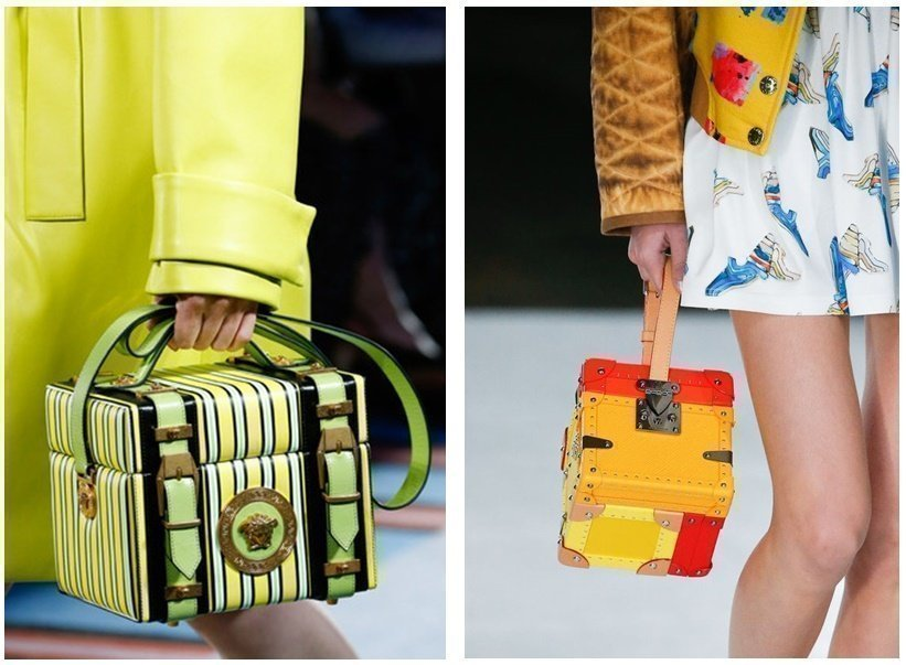 Сумки-сундучки от Versace и Louis Vuitton сезона весна - лето 2019 года - фотография