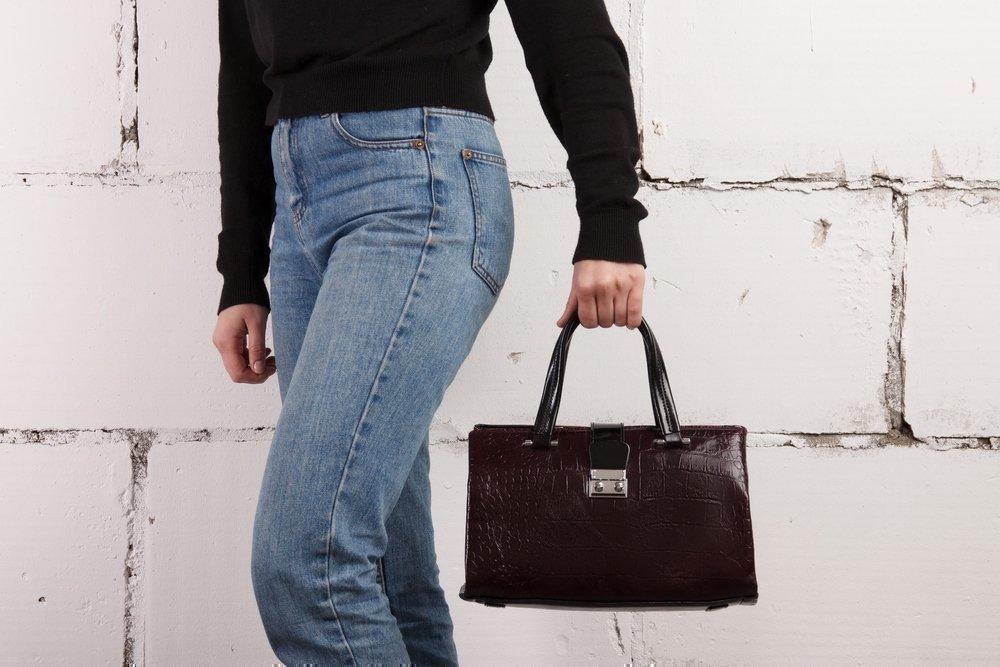 Новая сумка бордового цвета Fabbian