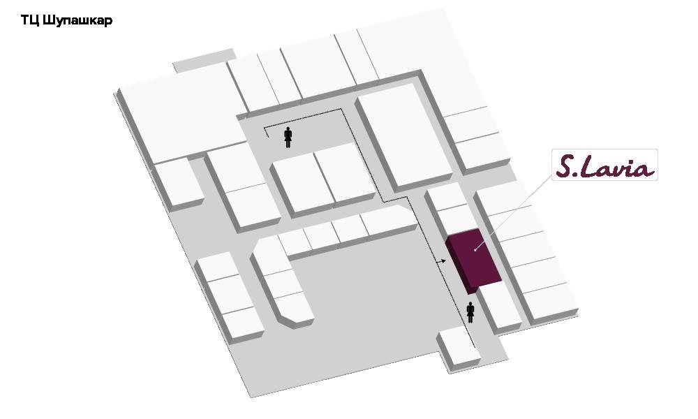 Расположение магазина «Slavia» универмаг «Шупашкар» - фотография
