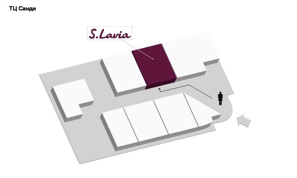 Расположение магазина «Slavia» ТЦ «Санди» - фотография