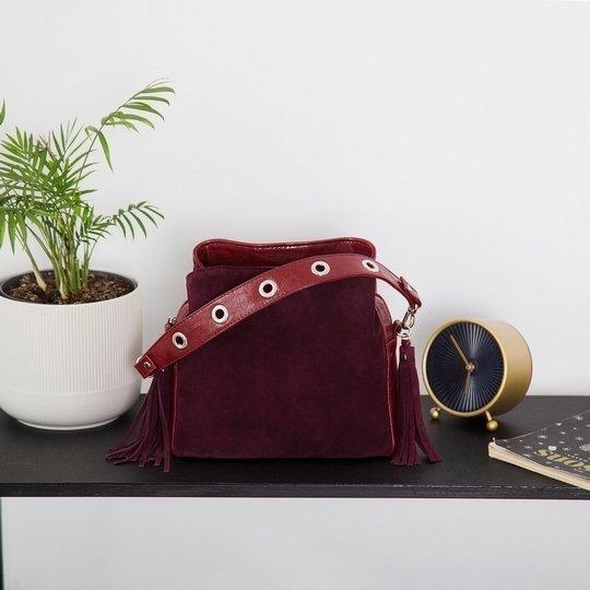 Инстаграмм бордовая сумка