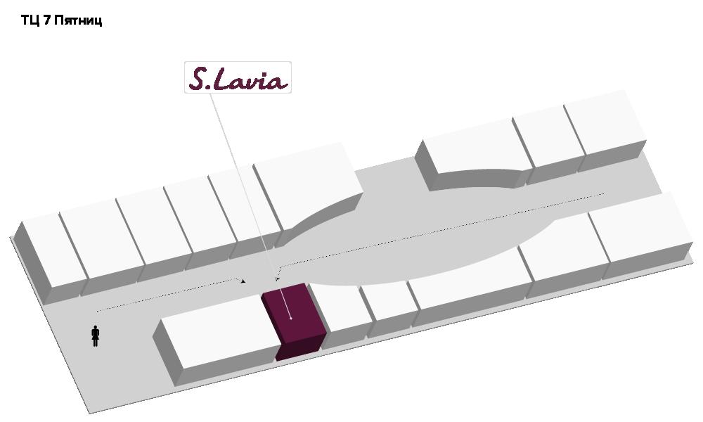 Расположение магазина «Slavia» ТЦ «Семь пятниц» - фотография