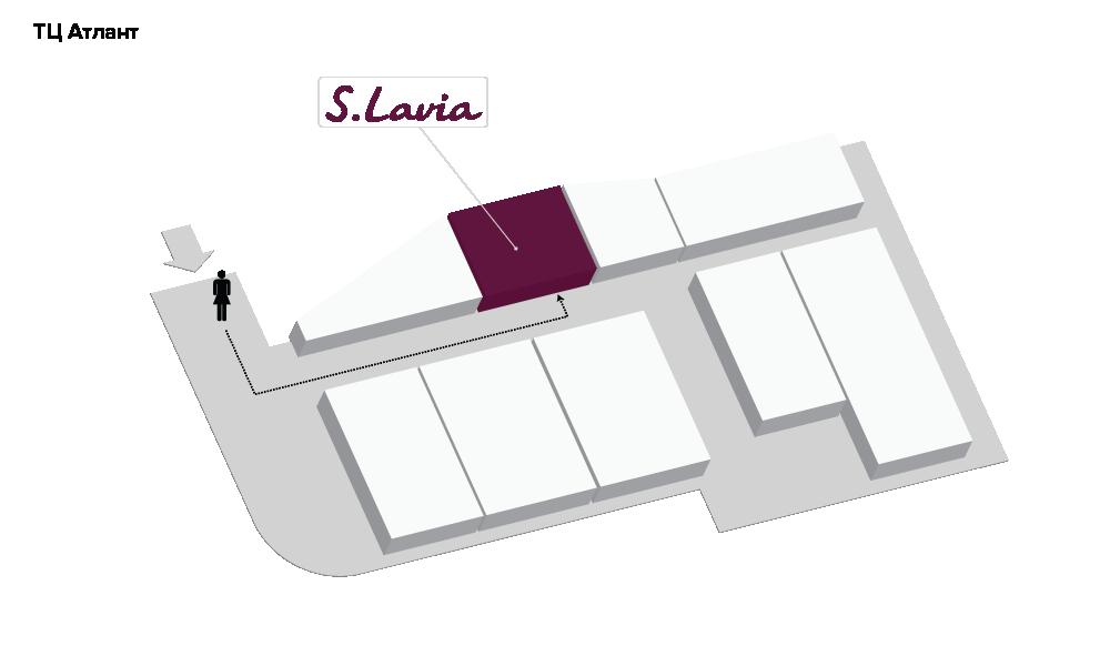 Расположение магазина «Slavia» ТЦ «Атлант» - фотография
