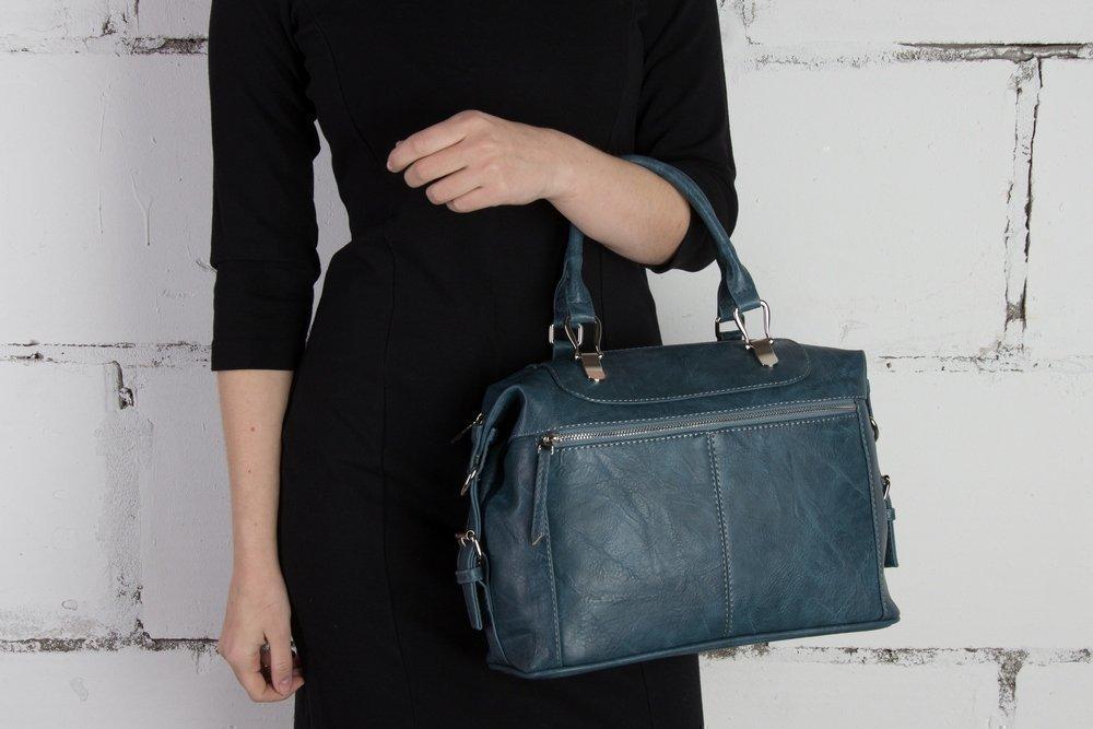 7135ca0965e2 Новинка - Голубая женская сумка-саквояж от S.Lavia