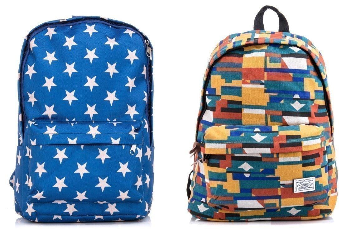 Принтованные или насыщенные однотонные расцветки рюкзаков - фотография