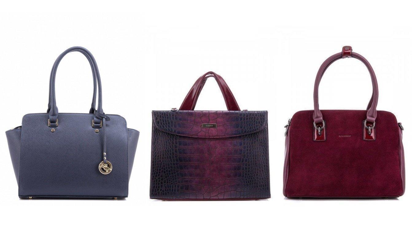 Деловые- сумки бордового, баклажанового, синего, фиолетового и темно-зеленого цветов - фотография