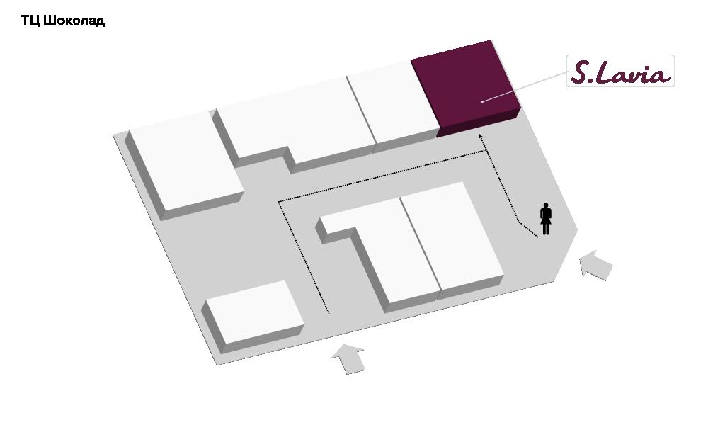 Расположение магазина «Slavia» ТЦ «Шоколад» - фотография