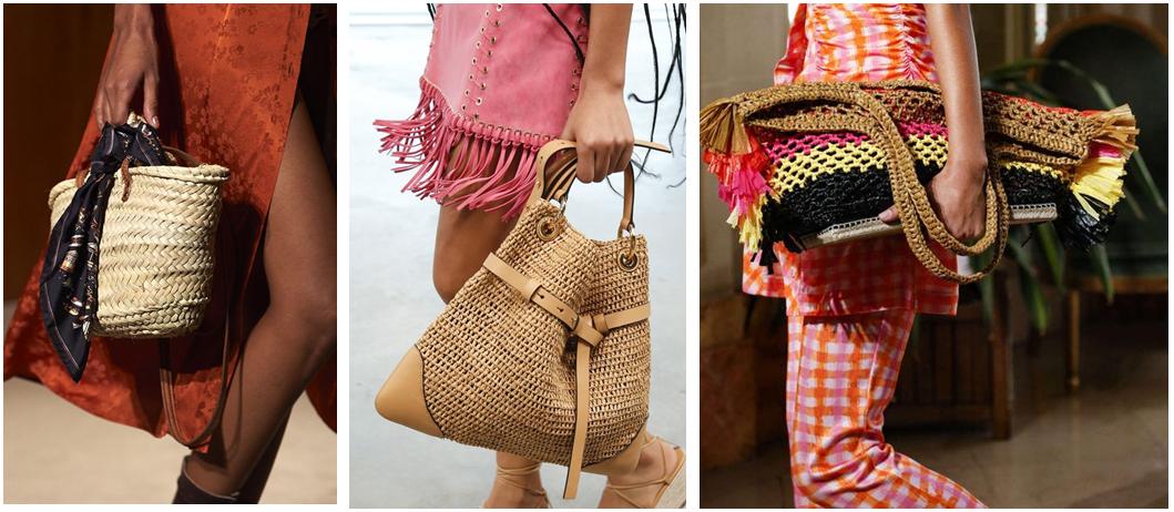 Плетеные сумки - фотография