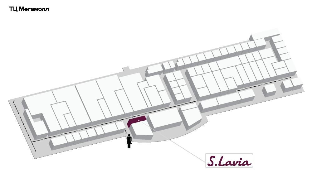 Расположение магазина «Slavia» ТЦ «Мега Молл» - фотография